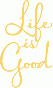 Silhouette Online Store: life is good script