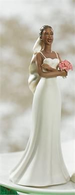 Wedding Cake Topper Bride Waiting on Groom