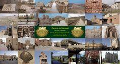 Camino de Santiago Postcards - Camino Francés, Via de la Plata, Camino de Finisterre, and Camino Inglés and a Poster on the Camino to Santiago de Compostela