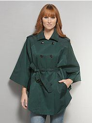 New York & Company - Apparel - Outerwear Double-Breasted Trench Cape $89.95