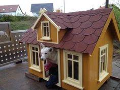 Your dog will love this wonderful house! #DIY - creative kennel project #Bosch #Makeityourhome /// Euer Hund wird dieses wundervolle Häuschen lieben! - Heimwerkerprojekt - Kreative Hundehütte.