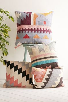 Plum & Bow Ayla Woven Kilim Floor Pillow - Urban Outfitters