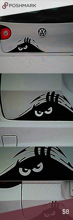 """CAR OR SUV EXTERIOR REAR PEEKING MONSTER STICKER This is a cute decal, it is about 7.5"""" x 2.8"""". Can be applied to any clean smooth flat surface(walls, window, cars, mirror or fridge.)it has an reflective effect. Please view ALL photos. Other"""