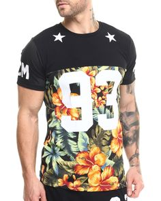 Floral Perforated mesh a/a tee (side zip detail) Men's Shirts from Buyers Picks.