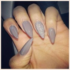 Simple Stiletto Nails ❤ liked on Polyvore featuring beauty products and nail care
