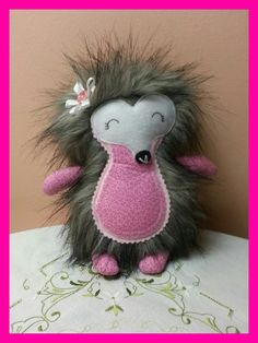 A cute little hedgehog made from a Dolls and Daydreams pattern