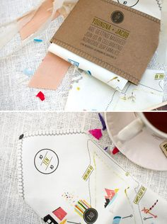 Handkerchief Map Invitation | 25 Creative Invitations