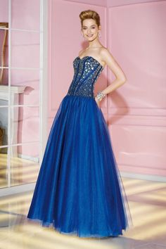 2014 Sweetheart Neckline Fitted And Beaded Bodice Ball Gown Dress With Flowing Tulle Skirt