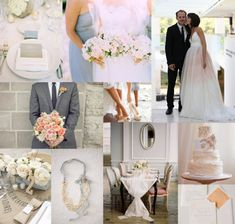 peach,light blue and gray wedding colors