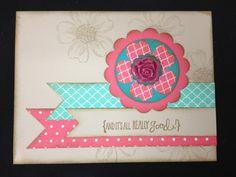 Stampin' Up! Card flower banner