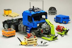 Lego Truck - Lego Truck Best Picture For diy surgical mask free pattern For Your Taste You are l - Lego Technic Truck, Lego Truck, Lego Tractor, Lego Hacks, Lego Movie Birthday, Best Lego Sets, Lego Machines, Lego Pictures, Lego People