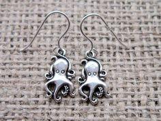 Octopus Silver Earrings