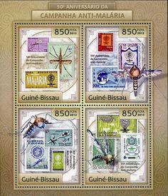 Francobolli . Lotta contro la malaria - Malaria on Stamps Guinea Bissau 2012