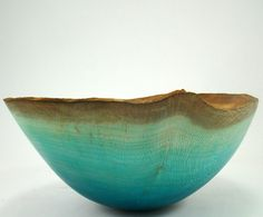 Just Blue - Sycamore Bowl by makye77 on Etsy https://www.etsy.com/listing/86949777/just-blue-sycamore-bowl
