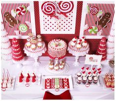 """Photo 1 of 36: CANDY CHRISTMAS / Christmas/Holiday """"Candy Christmas & Hot Cocoa Bar""""   Catch My Party"""