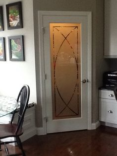 Arcs Etched Glass Front Doors Traditional Decor