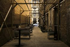 Outdoor industrial-style events space – Tanner Warehouse – London