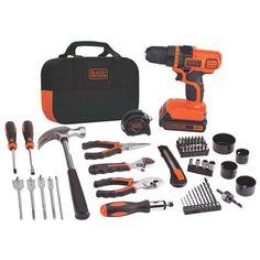 Amazon.com: Black & Decker LDX120PK 20-Volt MAX Lithium-Ion Drill and Project Kit: Home Improvement