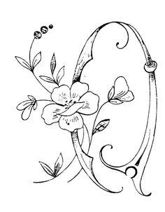 Q - Photo de Monogrammes - Broderie d'Antan (via Deborah Thornhill, Fonts - Spell it Out) Tambour Embroidery, Embroidery Alphabet, Embroidery Monogram, Hand Embroidery, Embroidery Designs, Letters And Numbers, Monogram Letters, Alphabet Design, Creative Lettering
