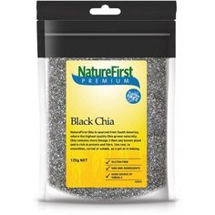 Natures First Chia Seeds Black 125g - http://www.veggiemeals.com.au/shop/grocery/natures-first-chia-seeds-black-125g/ #125G, #Black, #Chia, #First, #GroceryGtGrainsNutsAndSeeds, #Health, #NatureS, #Products, #Seeds #veggiemeals #vegetarian