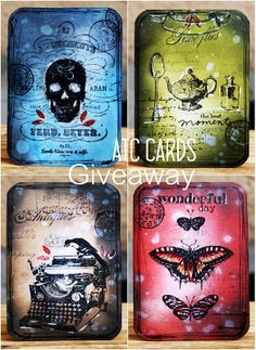 Lollyrot Scrapbooking: Halloween ATC cards GIVEAWAY