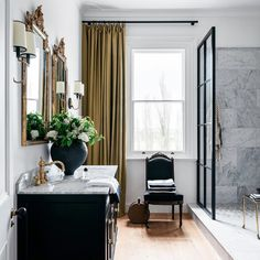 A labour of love, the renovation of an 1877 Georgian farmhouse by interior stylist and Belle style director at-large, Steve Cordony has seen it become one of the most covetable properties of late. Neutral Color Scheme, Color Schemes, Bathroom Trends, Bathroom Ideas, Loft Bathroom, Bathroom Marble, Bathroom Inspo, Bathroom Designs, Tadelakt