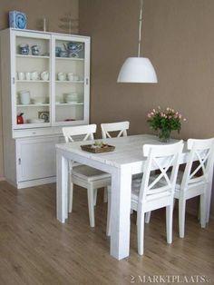 keukentafel wit hout - Google zoeken