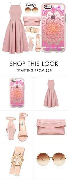 """""""Casetify"""" by aaidaa ❤ liked on Polyvore featuring Casetify, Chi Chi, Steve Madden, Michele and Linda Farrow"""