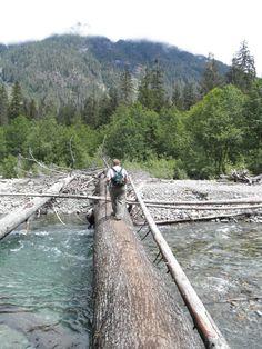 Monte Cristo Trail, Washington.  8 mile round trip hike to old gold mining ghost town.