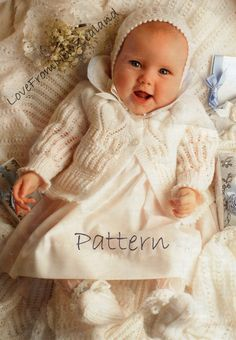 PDF Baby Knitting Pattern / Cardigan Bonnet by LoveFromNewZealand
