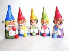 Knitting  Gnome Brooches