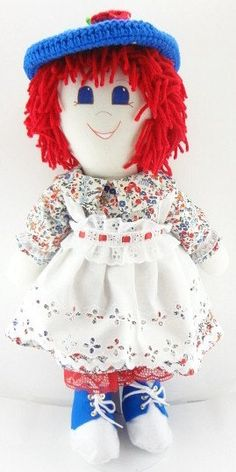 "I am cute as a button (whatever that means) my creator is old and she says that all the time. I am a redheaded rag doll and I am dressed in red white and blue. I am a totally cool person and I am looking for a totally cool friend.... NF190  This is a My New Friend rag doll that is hale and hearty and expects to go where your child goes and do what your child does. If you hug the doll she will hug you back, cloth dolls do that. She is about 18""-20"" tall and other than scissors, she has no…"