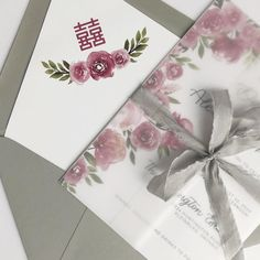 Moody florals, venue illustrations, vellum wrap tied with hand dyed silk ribbon, tucked in a custom envelope liner and sealed with a custom wax seal. Custom Envelopes, Dyed Silk, Envelope Liners, Custom Wedding Invitations, Wax Seals, Silk Ribbon, Florals, Gift Wrapping, Letters