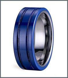 Grand Black And Blue Mens Wedding Bands More Design  http://articleall.com/black-wedding-band/black-and-blue-mens-wedding-bands/