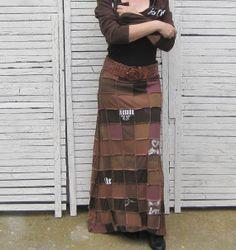 bleach+pen+tshirt+birds | Upcycled Maxi Skirt