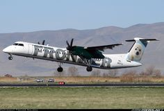 Frontier Bombardier DHC-8-402Q Dash 8. I flew on this same Dash 8 Q-400 N507LX back in 2011 back here from ABQ while having flown N502LX down to ABQ the day before from DEN.
