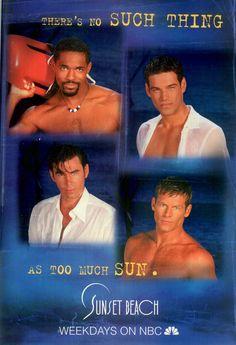 Magazine Ad For Sunset Beach Tv Show Ed Cibrian Jason George Sam Behrens 1998 Magazines Ads And Books