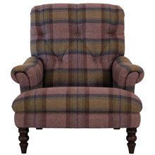 From Laura Ashley's new Autumn/Winter range: John Lewis Gibson armchair in Tinto wool by Zoffany.