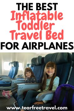 We all know that taking a toddler on an airplane is the ultimate test of parenting patience. Well, your prayers have been answered! There are now INFLATABLE toddler travel beds for airplanes. That's right, a toddler bed for the airplane that will allow your little one to STRETCH OUT and (most importantly) SLEEP WELL on the airplane. Toddler Vacation, Toddler Travel Bed, Toddler Car Seat, Toddler Bed, Toddler Travel Activities, Travel Car Seat, Inflatable Bed, Packing List For Vacation, Airplane Travel