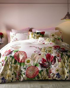 Encyclopaedia Floral cotton super king duvet cover - Pink | Gifts For Her | Ted Baker UK