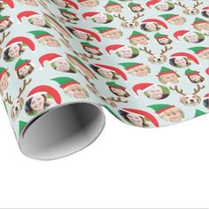 Christmas Crew Custom Six Photo Funny Holiday Gift Wrapping Paper - click to get yours right now!
