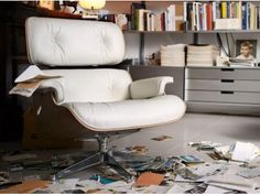 vitra la chaise charles eames unbenutzt fiberglas. Black Bedroom Furniture Sets. Home Design Ideas