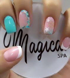 Manicure Nail Designs, Cute Acrylic Nail Designs, Best Acrylic Nails, Nail Manicure, Pretty Toe Nails, Pretty Nail Art, Cute Nails, Lilac Nails With Glitter, Cute Halloween Nails