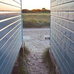 Mudeford Sand Spit - 2015 - Through the beach huts