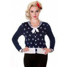 Cardigan Gilet Rockabilly Pin-Up Rétro 50's Sailor