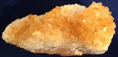 Brilliant Orange Citrine Quartz Crystals on Chalcedony Matrix by GEMandM on Etsy https://www.etsy.com/listing/259822141/brilliant-orange-citrine-quartz-crystals