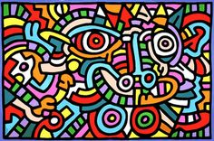 Keith Haring, Untitled, 1986, Acrylic and Oil on Canvas, 243.84 x 365.76 cm