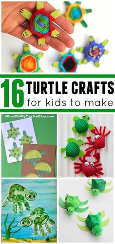 Cute turtle crafts for the kids to make! Great for ocean and beach themes!
