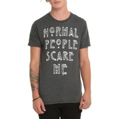 American Horror Story Normal People Scare Me T-Shirt | Hot Topic ($15) ❤ liked on Polyvore