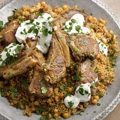 Braised lamb with maftoul and chickpeas I Ottolenghi recipes I This is a pretty substantial dish, full of wonderful meaty and sweet-spiced aromas.